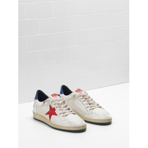 Men Golden Goose GGDB Ball Star In Calf Leather In Leather Slight Sneakers
