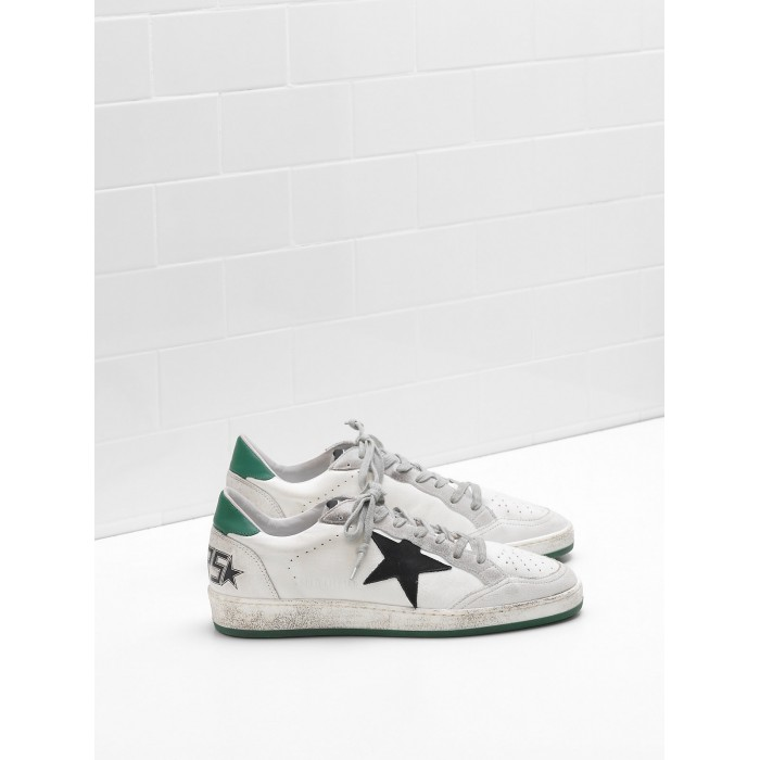 Men Golden Goose GGDB Ball Star In Calf Leather Nabuk Star Suede Sneakers