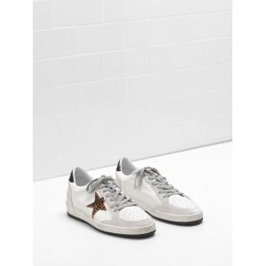 Men Golden Goose GGDB Ball Star In Calf Leather Star Heel Glossy Leather Sneakers