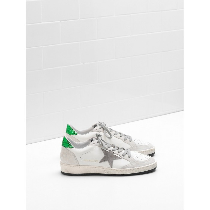 Men Golden Goose GGDB Ball Star In Calf Leather Suede Star Glittery Sneakers