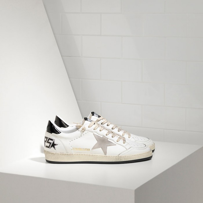 Men Golden Goose GGDB Ball Star In White Ice Star Sneakers