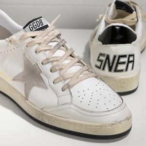 Men Golden Goose GGDB Ball Star In White Ice Star Sneakers