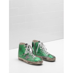 Men Golden Goose GGDB Francy Canvas Star In Laminated Leather Sneakers