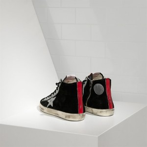 Men Golden Goose GGDB Francy Leather Star Black Suede Strawber Sneakers