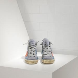 Men Golden Goose GGDB Francy Sky Red Fluo Star Sneakers