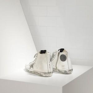 Men Golden Goose GGDB Francy Sparkle White Silver Sneakers