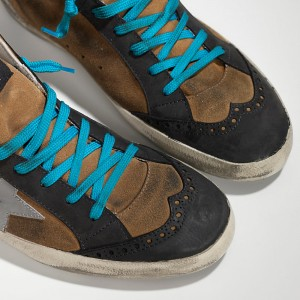 Men Golden Goose GGDB Mid Star In Camoscio Olive Suede Sneakers