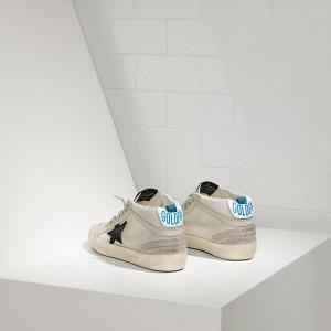 Men Golden Goose GGDB Mid Star In Tessuto Tecnico E Stella In Grey Sneakers