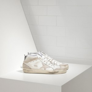 Men Golden Goose GGDB Mid Star Limited Edition Uma In Leather And Star Sneakers