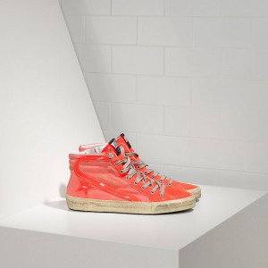 Men Golden Goose GGDB Slide Archive In Orange Sneakers