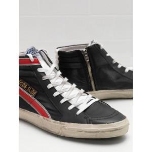 Men Golden Goose GGDB Slide In Balck Red Sneakers