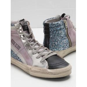 Men Golden Goose GGDB Slide In Pink Blue Black Sneakers