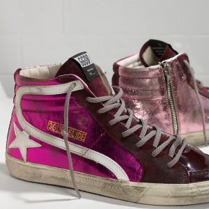 Men Golden Goose GGDB Slide In Pelle Pink Shades Sneakers