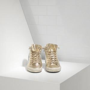 Men Golden Goose GGDB Slide In Pelle White Gold Star Sneakers