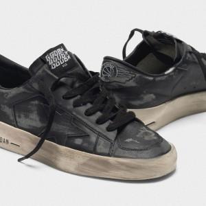 Men Golden Goose GGDB Stardan Ltd In Total Black Leather Sneakers