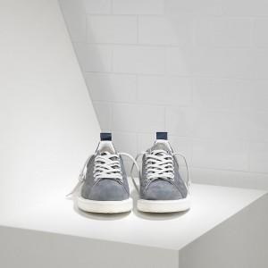 Men Golden Goose GGDB Starter In Dark Grey Sneakers