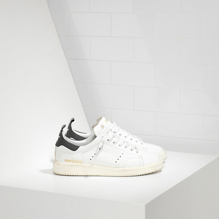 Men Golden Goose GGDB Starter In Traforata White Spot Sneakers