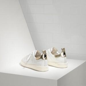 Men Golden Goose GGDB Starter In White Gold Sneakers