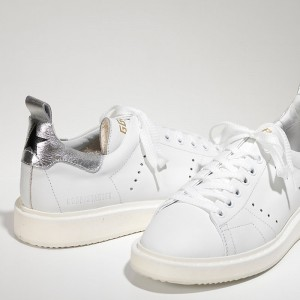 Men Golden Goose GGDB Starter In White Silver Sneakers