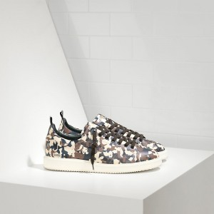 Men Golden Goose GGDB Starter In Calf Leather Camouflage Sneakers