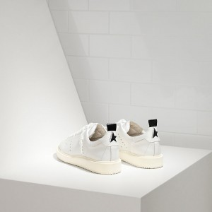 Men Golden Goose GGDB Starter In Calf Leather White White Sole Sneakers