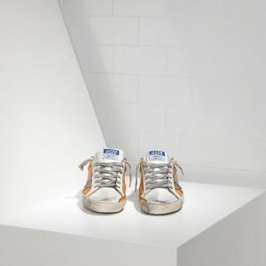 Men Golden Goose GGDB Superstar In Beige White Violet Sneakers