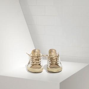 Men Golden Goose GGDB Superstar In Gold White Suede Star Sneakers