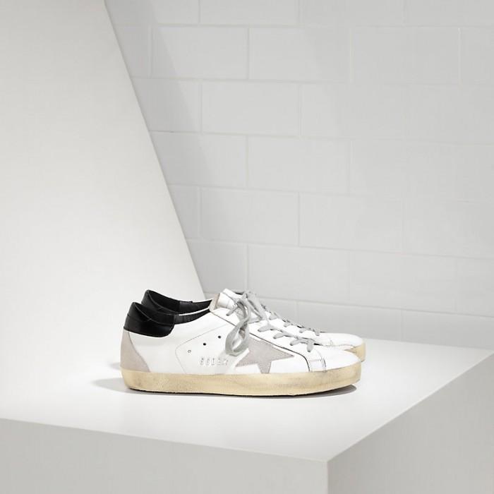 Men Golden Goose GGDB Superstar In White Black Cream Black Sneakers