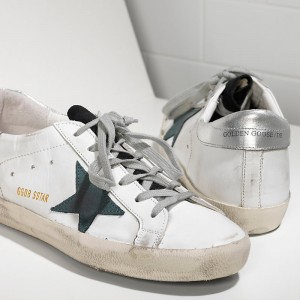 Men Golden Goose GGDB Superstar In White Petroleum Star Sneakers