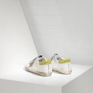 Men Golden Goose GGDB Superstar In White Wasabi Sneakers