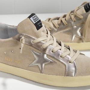 Men Golden Goose GGDB Superstar Leather In Beige Gold Star Sneakers