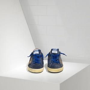 Men Golden Goose GGDB Superstar Leather In Navy Suede Club Sneakers