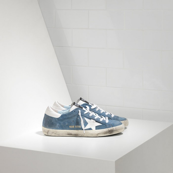 Men Golden Goose GGDB Superstar Leather In Suede White Star Sneakers