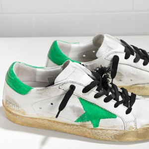 Men Golden Goose GGDB Superstar Traforata White Skate Paint Sneakers