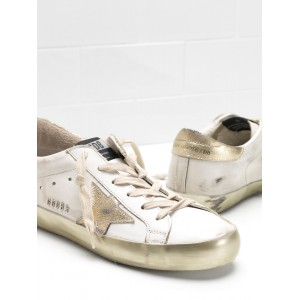Men Golden Goose GGDB Superstar Calf Leather In Golden Sneakers