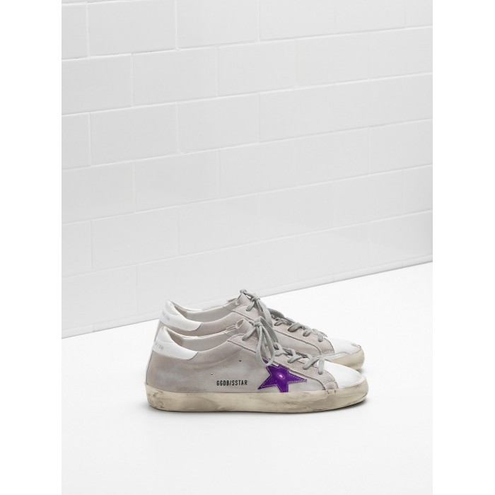 Men Golden Goose GGDB Superstar Calf Suede In Worn Effect Leather Sneakers