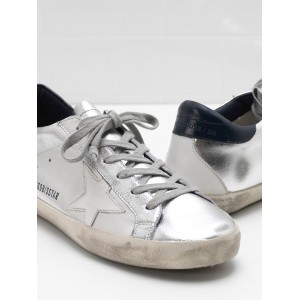 Men Golden Goose GGDB Superstar In Metallic Goatskin Leather Star Sneakers