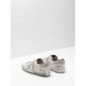 Men Golden Goose GGDB Superstar In White Gray Star Logo Sneakers