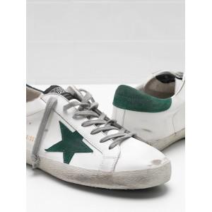 Men Golden Goose GGDB Superstar Leather Star In Green Star Sneakers