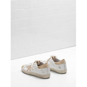 Men Golden Goose GGDB Superstar Leather Star In Leather Khaki Sneakers
