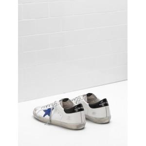 Men Golden Goose GGDB Superstar Leather Star In Suede Blue Star Sneakers