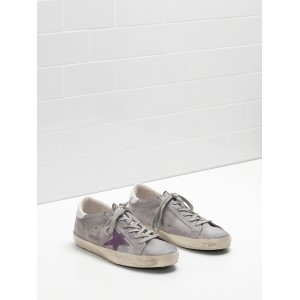 Men Golden Goose GGDB Superstar Leather Suede Lightly Coated In Glitter Sneakers
