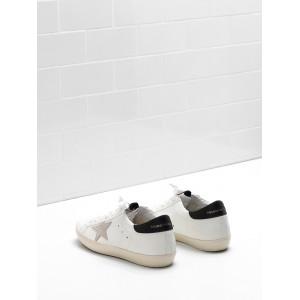 Men Golden Goose GGDB Superstar Leather Suede Star Logo Lettering Black Sneakers