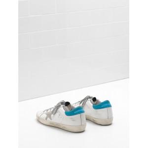 Men Golden Goose GGDB Superstar Leather Suede Star Logo Lettering Lack Blue Sneakers