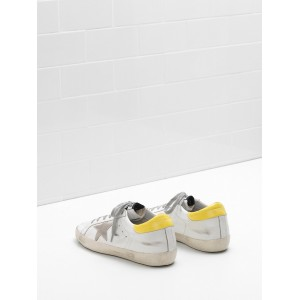 Men Golden Goose GGDB Superstar Leather Suede Star Yellow White Sneakers