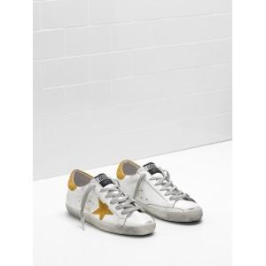 Men Golden Goose GGDB Superstar Leather Suede Yellow Star Sneakers