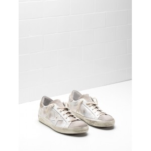 Men Golden Goose GGDB Superstar Skin Leather Coated In Silk Sneakers