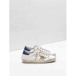 Men Golden Goose GGDB Superstar Upper In Calf Leather Glitter Coated Star Leather Sneakers