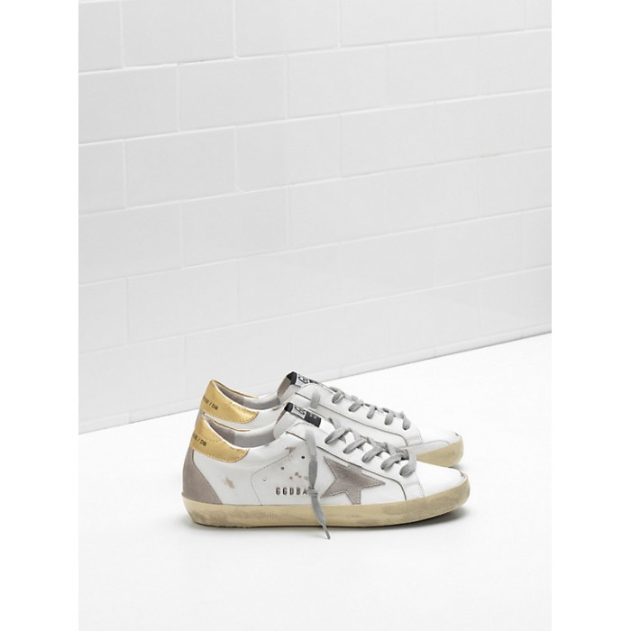 Men Golden Goose GGDB Superstar Upper In Calf Leather Suede Star Embossed Logo Lettering Sneakers