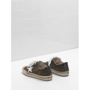 Men Golden Goose GGDB V Star 2 Seakers Star In Glossy Material Glitter Sneakers